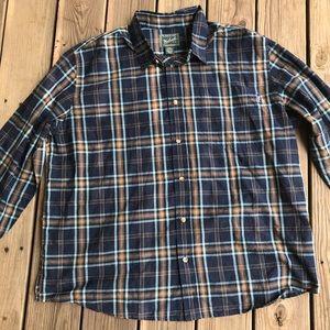 NWT Men Woolrich classic fit 100% cotton button XL